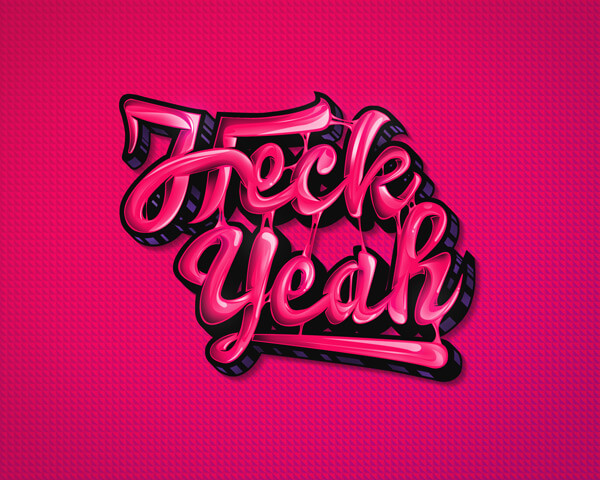 Heck Yeah Text Effect Tutorial by Samuel Mensah