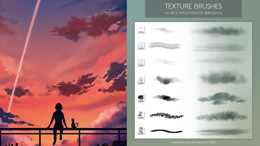 auroraLion-texture-brushes